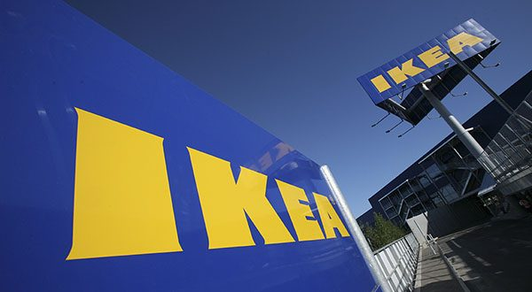 This June 18, 2008 file photo shows Ikea signage at New York City's first Ikea store, in Brooklyn. (AP Photo/Mark Lennihan, File)