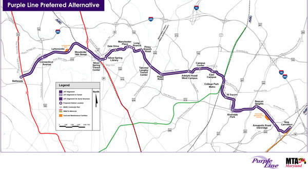 Purple Line rail proposals delayed