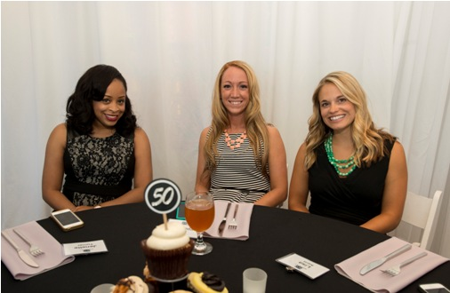 From left, Jenelle Turner, Amanda Wood and Lisa Kent, all of The Kornblatt Company celebrate the firm's 50th anniversary.