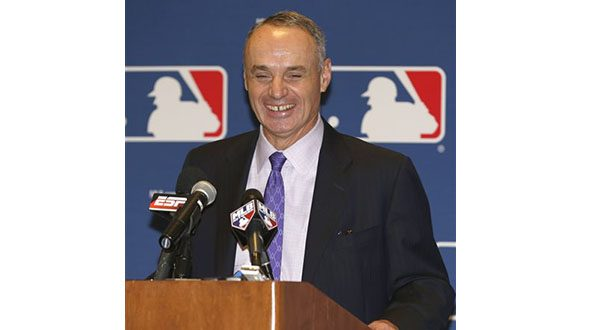 Rob Manfred (AP Photo/Reinhold Matay, File)