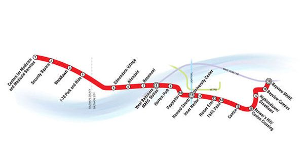 A map of the ill-fated Red Line, which the state Department of Transportation says will not be built. (file)