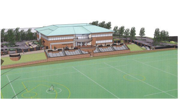 A rendering of the U.S. Lacrosse headquarters and National Lacrosse Center. (Courtesy Rubeling & Associates Inc.)