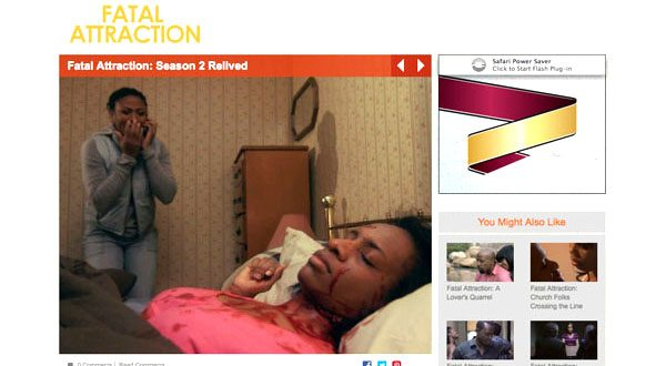Screen grab from the TV One website showing a moment from the Fatal Attraction: season two show about Tawanna Barnes-Copeland's death.