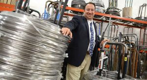 Drew Greenblatt, president of Marlin Steel Wire Products, says the city has an opportunity to compete for advanced manufacturing companies. (The Daily Record/Maximilian Franz)