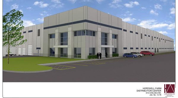 A proposed warehouse and distribution center planned near Aberdeen is just one of the many warehouses sprouting up in Harford County. (COURTESY OF HOFMANN ASSOCIATES, INC.)