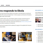 Hopkins launches Ebola-focused website