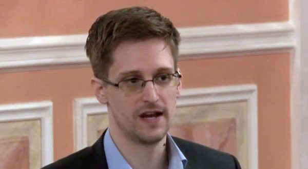 Former NSA systems analyst Edward Snowden speaks in Moscow in this image made from a video Wikileaks released last October.  (AP Photo, File)