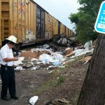 Feds: Distracted driving led to train derailment, explosion