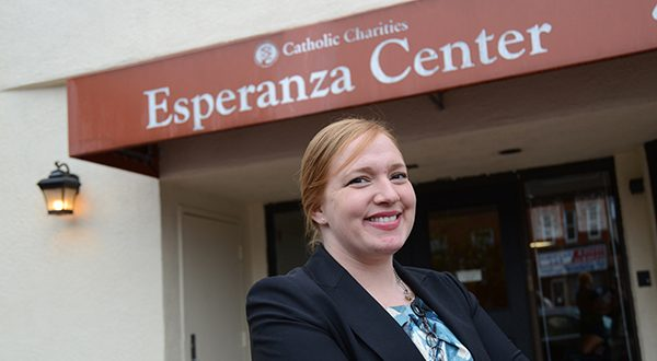 'We're guessing there's going to be a lot of unauthorized practice of immigration law in the next month,' says Adonia Simpson, managing attorney of immigration legal services at the Catholic Charities' Esperanza Center in Baltimore. (The Daily Record/Maximilian Franz)