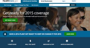 Screen shot shows the home page of HealthCare.gov (AP Photo)