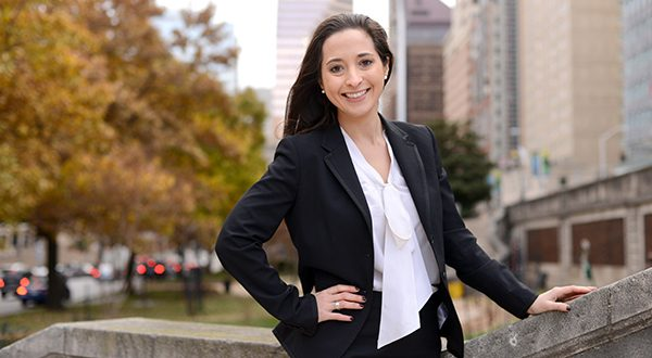 Attorney Catherine Gonzalez, who received a fellowship grant to aid underserved communities in the city, says she will focus on helping those struggling to get relief from student loans. (The Daily Record/Maximilian Franz)