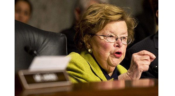 In this Nov. 12, 2014 file photo, Senate Appropriations Committee Chair Sen. Barbara Mikulski, D-Md. speaks on Capitol Hill in Washington. Lawmakers are finalizing a sweeping $1.1 trillion spending bill to fund the government through September and prevent a shutdown later this week. The measure is the main piece of business facing the lame-duck Congress that hopes to adjourn this week. Republicans will take over the Senate when the new Congress reconvenes next month. (AP Photo/Jacquelyn Martin, File)