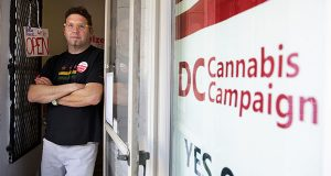 Adam Eidinger, chairman of the DC Cannabis Campaign, poses for a portrait at the DC Cannabis Campaign headquarters in Washington. (AP Photo/Jacquelyn Martin, File)