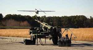 A Textron Systems drone on a test flight Nov. 19 outside Blackstone, Virginia. Textron is joining an increasingly competitive market, as researches explore nonmilitary options for drone technology. (Photo courtesy of Textron)