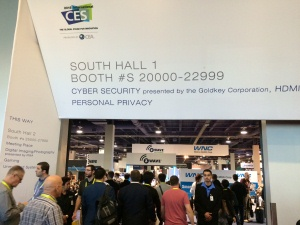 A cybersecurity exhibit at CES 2015 (Photo: Frank Gorman)