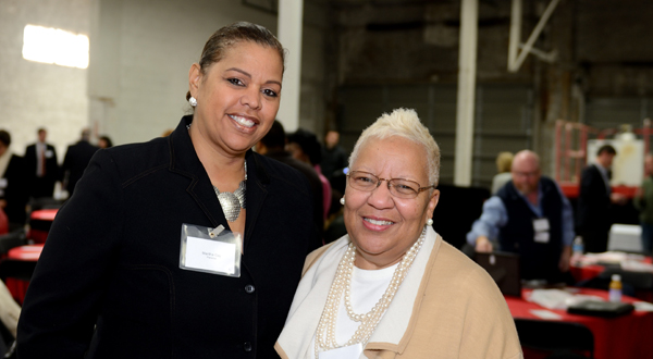 From left, Maritha Gay, executive director of external affairs and community benefit at Kaiser Foundation Health Plan of the Mid-Atlantic States; and Diane Bell-McKoy, president and CEO of Associated Black Charities pose during the event.
