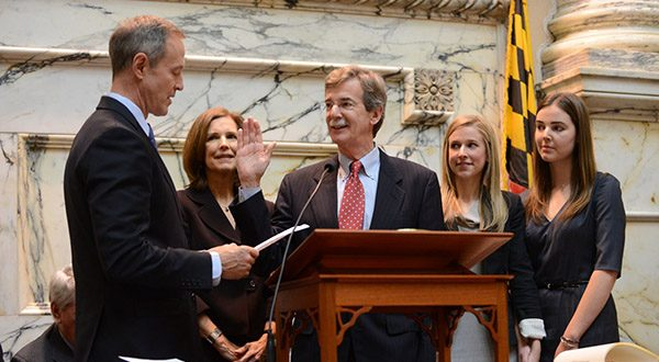 Shown at his swearing in on Jan. 6, Attorney General Brian Frosh was back in the State House as 'a spectator' on the first day of the legislative session.