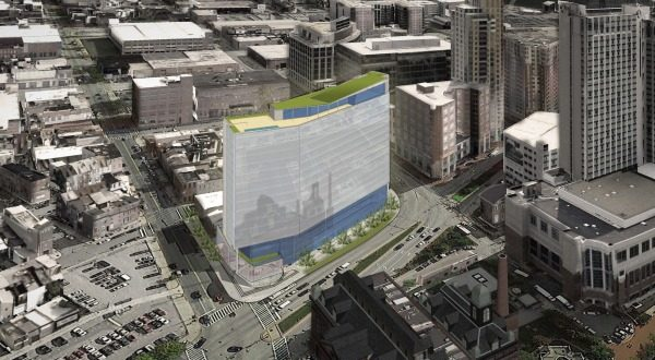 WorkShop Development Inc. has proposed building at 16-story mixed-use development at 801 Eastern Ave. (Courtesy Hord Coplan Macht)