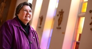 With Sister Patricia McCarron as headmistress, Notre Dame Preparatory School in Towson has overhauled curriculum, boosted enrollment and its endowment and received recognition as a top academic school. (The Daily Record/Maximilian Franz)