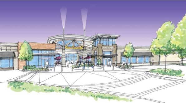 Renderings of proposed $20 million upgrade to The Shops at Kenilworth. (Courtesy Greenberg Gibbons)