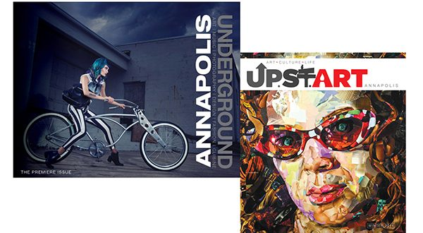 Screen grabs of the premiere issues of Annapolis Underground and Up.St.Art.