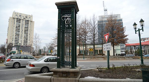Downtown Towson has seen an explosion of development in recent years, including hundreds of apartment units. (The Daily Record/Maximilian Franz)