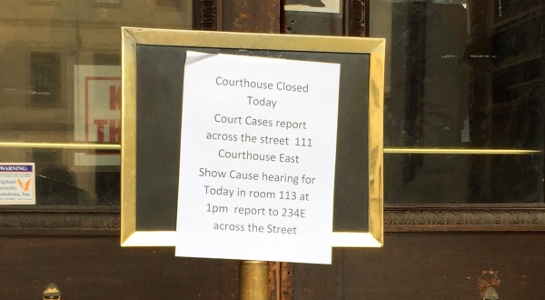 Water main break closes Baltimore courthouse — but don't blame the weather