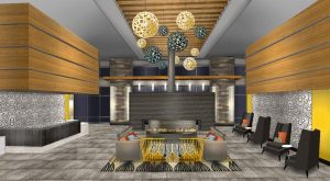 Renderings of the interior of the Icon Residencies at The Rotunda in Baltimore's Hampden neighborhood. (Courtesy Hartman Design Group)