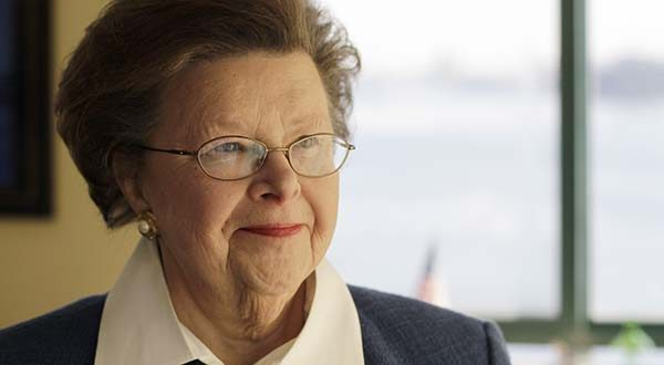 In this Jan. 4, 2011, file photo, Sen. Barbara Mikulski, D-Maryland, poses for a portrait at her office, in Baltimore. (AP Photo/Rob Carr, File)