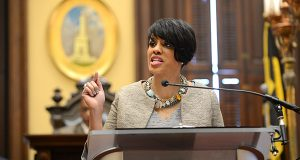 Baltimore Mayor Stephanie Rawlings-Blake. (The Daily Record/Maximilian Franz)
