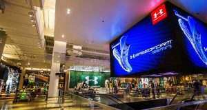 This photo depicts Under Armour Inc.'s newest specialty retail location at 600 N. Michigan Ave., on Chicago's Magnificent Mile.(PRNewsFoto/Under Armour, Inc.)