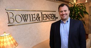 Jeremy Garner, a corporate attorney with Bowie & Jensen in Towson, has seen a growing number of clients with concerns about the legal landscape surrounding 'cryptocurrencies.' (The Daily Record/Maximilian Franz)