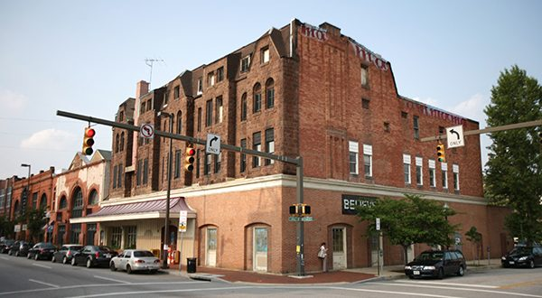 The Chesapeake Restaurant on the northeast corner of North Charles Street and East Lanvale Street near where developers hope to build an eight-story apartment building. (File photo)