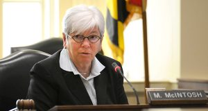 Del. Maggie McIntosh, D-Baltimore City and chairwoman of the House Appropriations Committee, says the governor's supplemental budget proposal would result in less deficit reduction. (File photo)