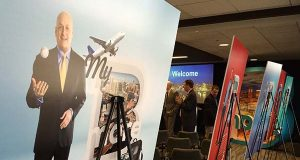 Visit Baltimore unveiled the city's new ad campaign on Thursday, featuring local celebrities like Cal Ripken, Mike Rowe and Kevin Plank. (The Daily Record / Maximilian Franz)