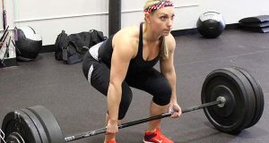 Briana Arnold working out in her CrossFit gym. (Submitted photo)