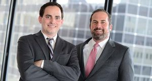 Kevin P. Sullivan, left, and Benjamin S. Salsbury, attorneys at Salsbury Sullivan, LLC. (The Daily Record/Maximilian Franz),