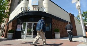 Exterior of the Club Hippo at 1 West Eagar Street in midtown Baltimore. The club is going to be turned into a CVS store. (The Daily Record/Maximilian Franz),