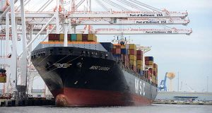 A ship at the Port of Baltimore (FILE)