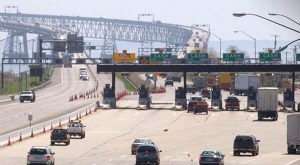 The toll plaza at the Chesapeake Bay Bridge, where some of the biggest toll reductions would occur. (File photo)