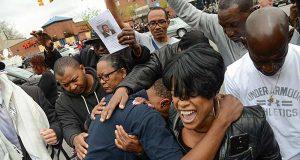 Protestors last week in Baltimore (The Daily Record / Maximilian Franz)