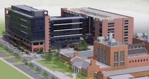 A rendering of the hotel at the University of Maryland. (Southern Management)