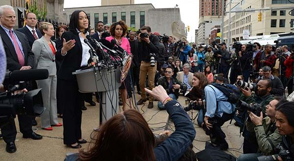 Baltimore City State's Attorney Marilyn Mosby announces charges, ranging from assault to murder, against police officers in the death of Freddie Gray.