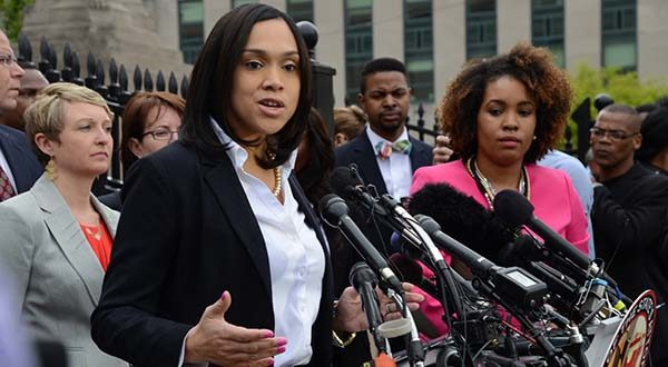 Baltimore City State's Attorney Marilyn Mosby announces charges against police in the death of Freddie Gray. A few miles off in any direction, and the debate about the knife involved in Freddie Gray's arrest by Baltimore police may have been completely different. The state of Maryland has one set of laws governing knives. The city of Baltimore has its own rules. Caught in the middle are people like Gray, who probably have no idea whether carrying a legally purchased knife can lead to criminal charges. (The Daily Record / Maximilian Franz)