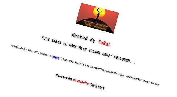 This image of the Startup Maryland website shows the result of an apparent cyberattack. It was retrieved from the Google cache and rotated 15 degrees.