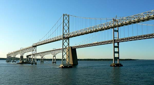 Spans of the Cheasapeake Bay Bridge. (Flickr / Gary Hymes / CC-BY 2.0)
