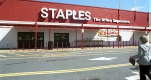 A Staples Office Store on Goucher Boulevard in 2000. (The Daily Record file)
