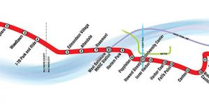 Map of proposed Red Line route.