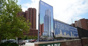 The developer of 414 Light St. secured a $107.28 million  loan to build the 44-story apartment tower.   (The Daily Record / Maximilian Franz)