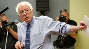 In a Wednesday, May 27, 2015 file photo, Democratic presidential candidate Sen. Bernie Sanders, I-Vt, speaks at a town hall style meeting, in Concord, N.H. (AP Photo/Jim Cole, File)